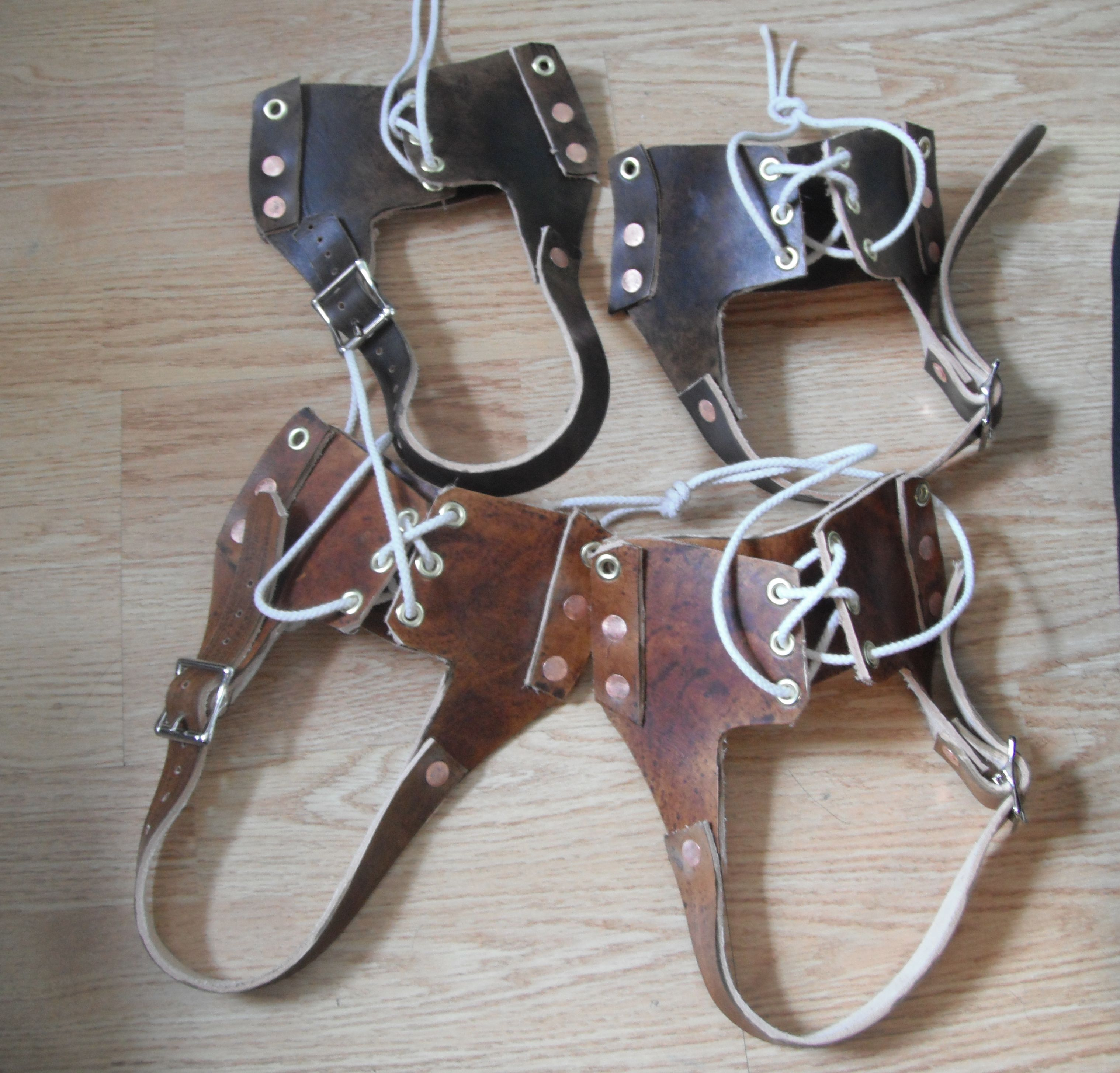 Leather Bindings For Traditional Snowshoes